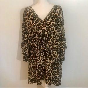 LANE BRYANT Plus Size Animal Print Tunic Sz 14/16